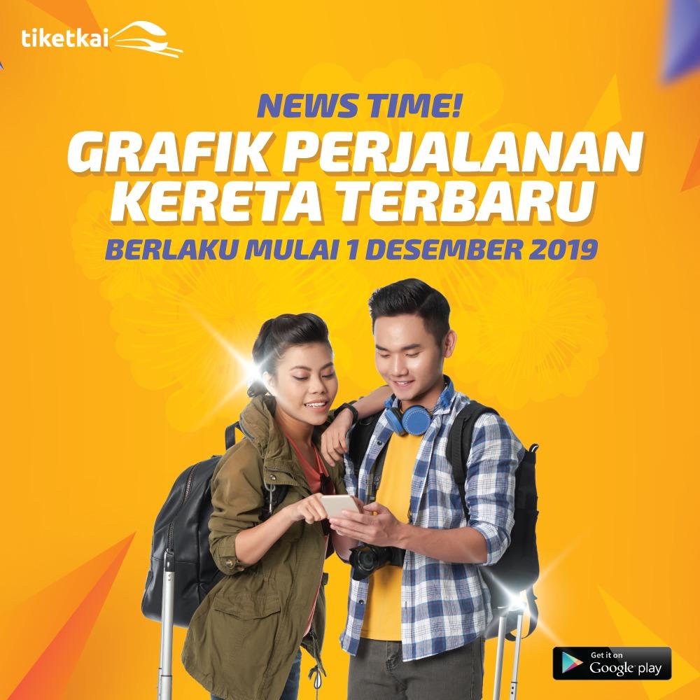Perubahan Jadwal KA Per 1 Desember 2019