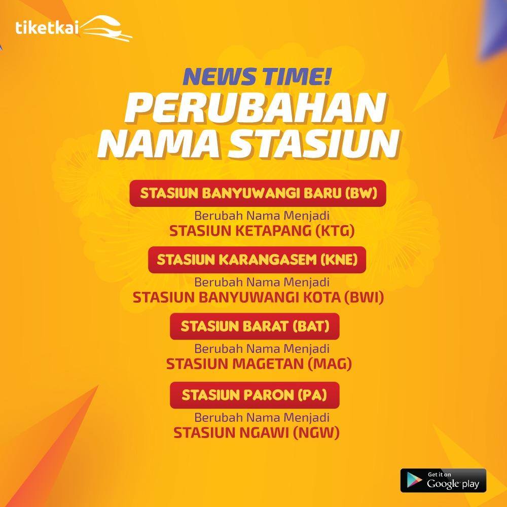 Perubahan Nama Stasiun
