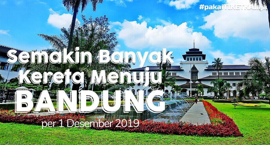 Mulai 1 Desember, Banyak Kereta Rute ke Bandung-Gambir PP
