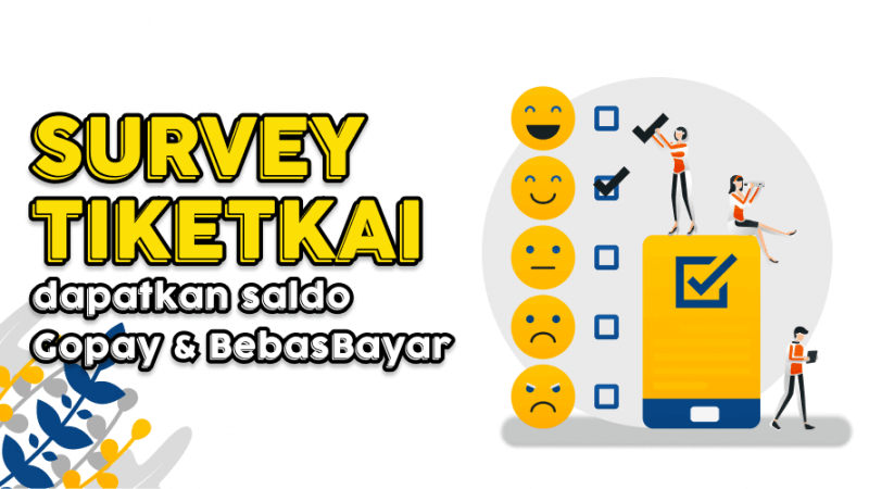 Ikuti Survey TiketKAI Bonus Saldo Gopay Gratis
