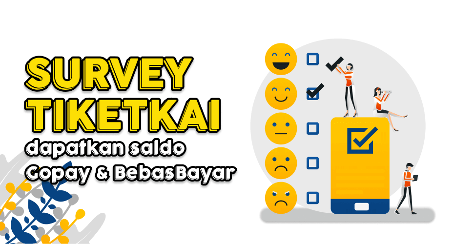 Survey TiketKAI dapat saldo Gopay BebasBayar gratis
