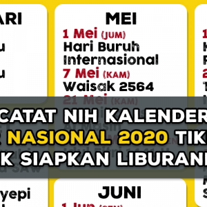 Kalender Libur Nasional 2020 TiketKAI