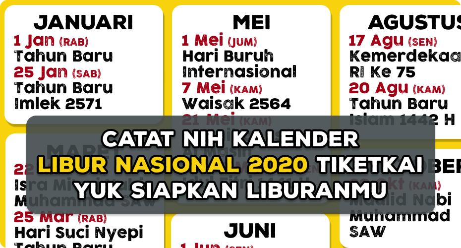 kalender libur 2020