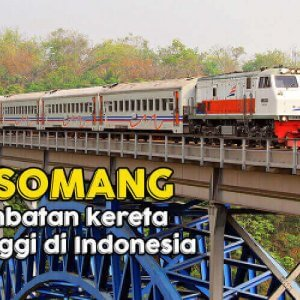 Jembatan Cisomang, Jembatan Kereta Tertinggi di Indonesia