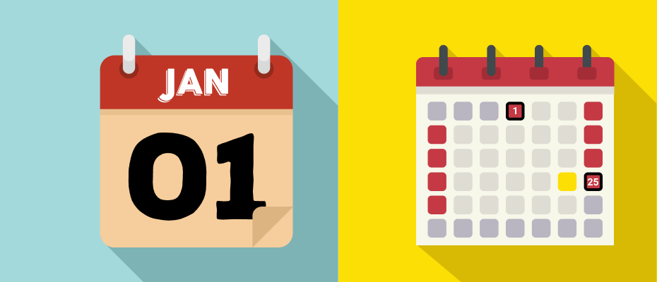 kalender libur januari 2020