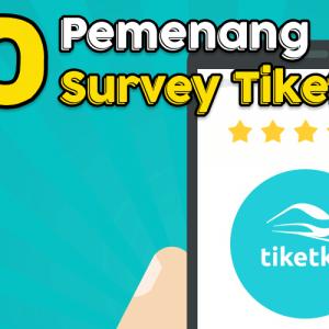 Inilah 20 Pemenang Survey TiketKAI