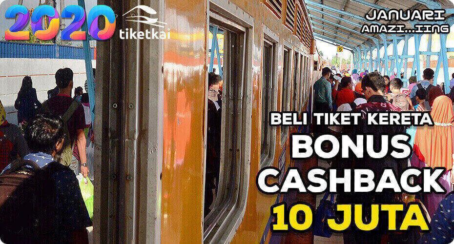 TiketKAI Bonus Cashback 10 Juta, Promo Kereta Awal Tahun