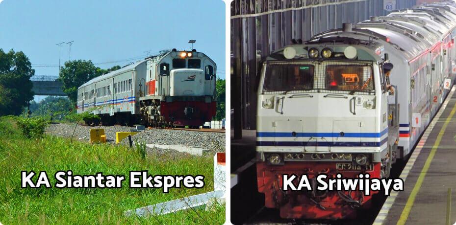 kereta siantar ekspres dan sriwijaya