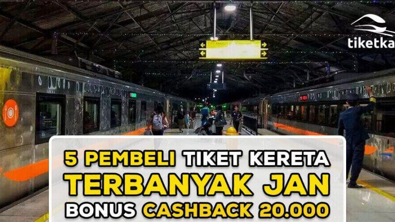 Pemenang Promo Cashback TiketKAI Januari 2020