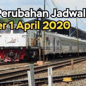 Perubahan Jadwal Kereta Api Per 1 April 2020