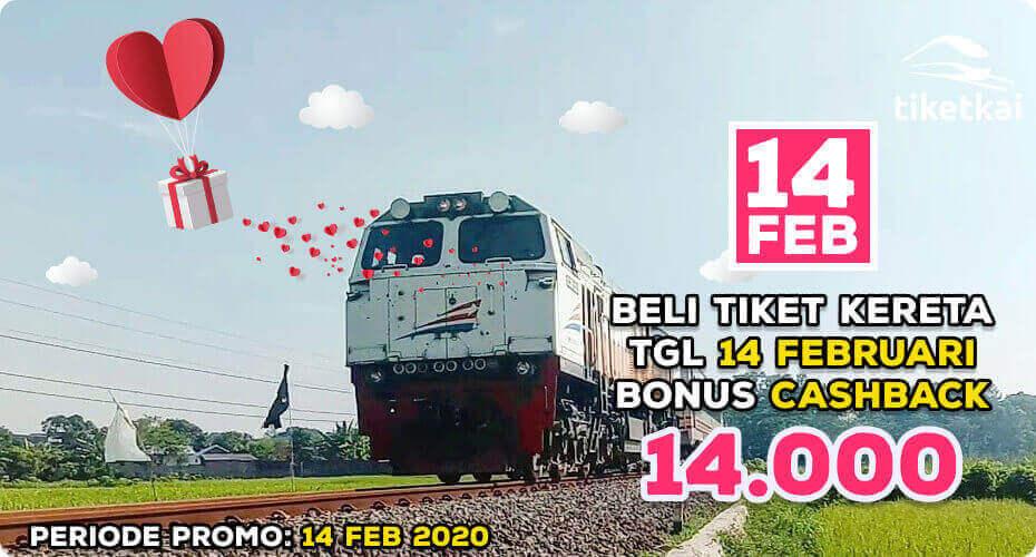 promo valentine tiket kereta TiketKAI