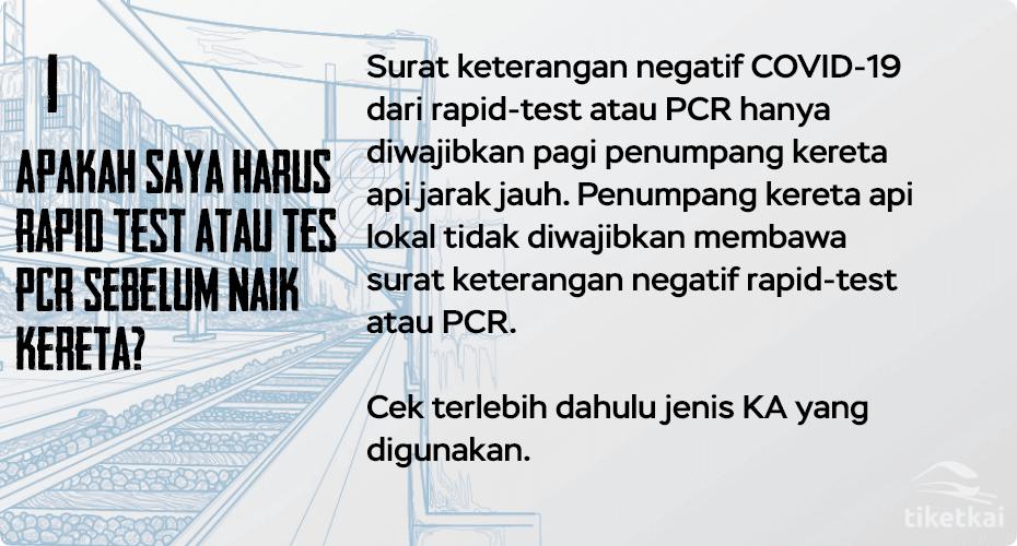 surat keterangan negatif rapid test atau PCR