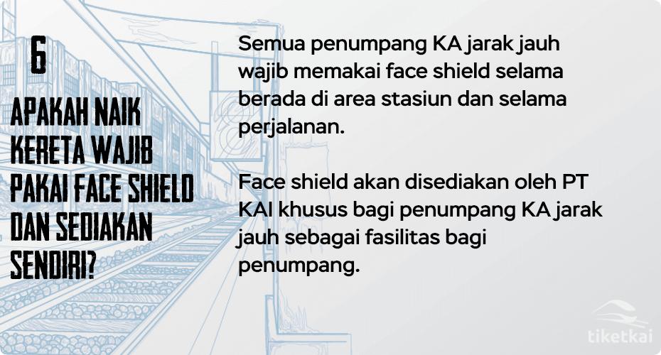 naik kereta pakai face shield